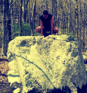 I couldn't really think of a good picture to accompany this post. So here's me squatting on a rock during a hike a few weeks ago. There's a message here somewhere, maybe.